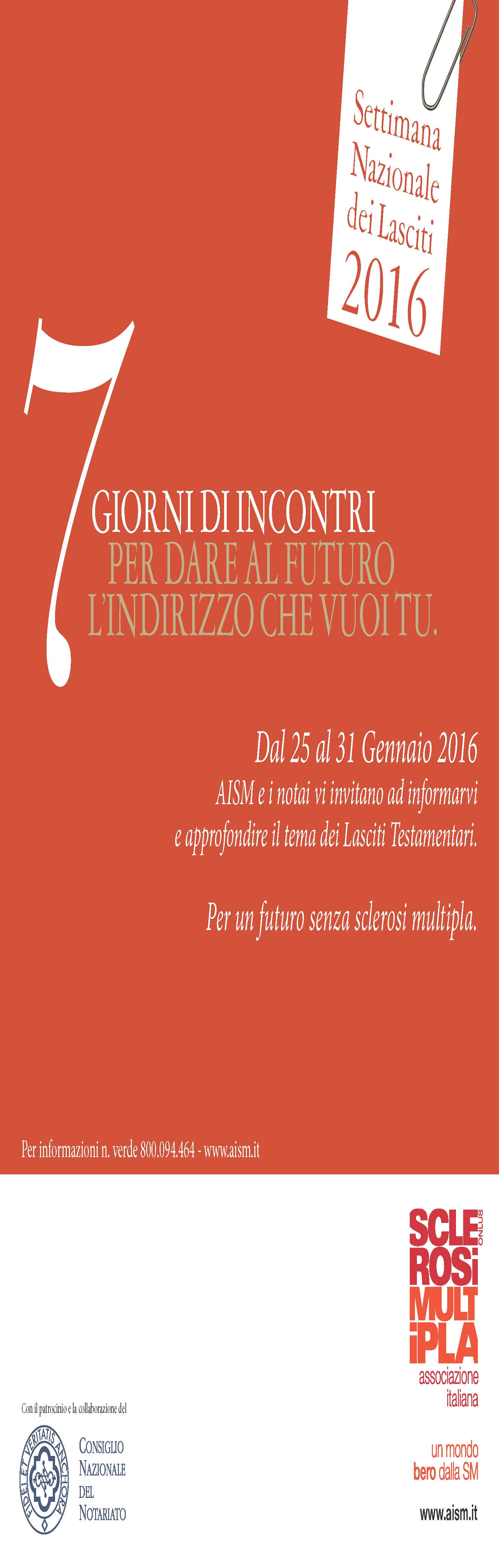 Locandina AISM 2016